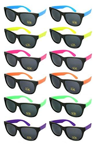 Edge I-Wear 80s Neon Sunglasses Pack of 12
