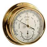 Barigo Kabinenaustattung Schiffsbarometer Thermometer Messing Regatta Durchmesser 120 -
