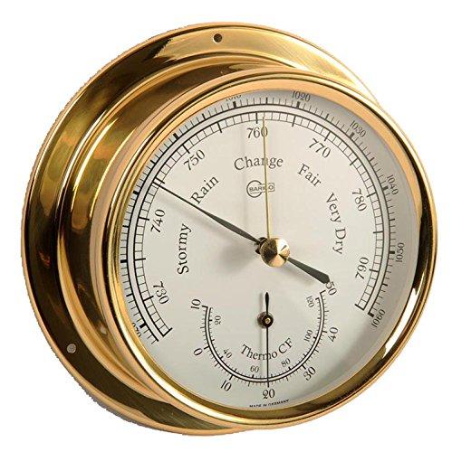 Barigo cabine-uitrusting scheepsbarometer thermometer messing Regatta diameter 120