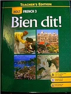 Holt French 3: Bien Dit, Teacher's Edition