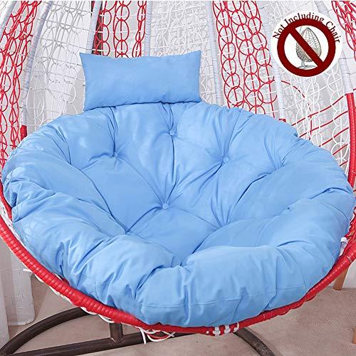 105 cm hangschommel stoelkussen met ergonomisch kussen, hangmat ei-hangmat stoel kussen comfortabel stoelkussen van dik katoen linnen stof met ritssluiting afneembaar en wasbaar