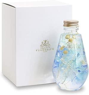 [フラワリウム] ドロップボトル フラワーギフト 誕生日プレゼント 贈り物 ハーバリウム ブルー
