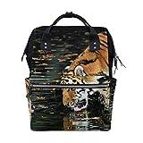 Animal Tiger Predator - Zaino per pannolini per mamme, grande capacità, da viaggio, scuola, portatile, escursionismo