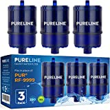 PURELINE RF9999 and RF3375 Water Faucet Replacement Filters. Compatible with PUR RF9999 & RF3375 Water Faucet Filters, PUR Classic, Advanced, and Horizontal Faucet Mounts. (3 Pack)