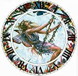 CydAgnF DIY Pintar por Numeros Reloj De Pared Dibujo sobre Lienzolienzo De Lino Decoración De Arte De Pared (40 X 50 Cm/15.75 X 19.69 Pulgadas)