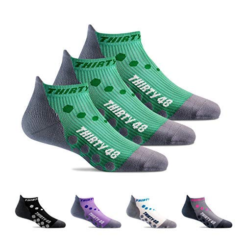Thirty48 Compression Low Cut Running Socks for Men and Women   15-20mmHg Compression