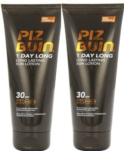 Piz Buin 1 Day Long Duo Sun Lotion Spf 30 LARGE 2 X 200ml = 400ml