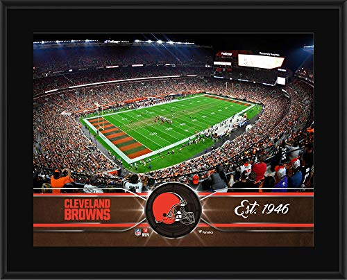 """Cleveland Browns 10.5"""" x 13"""" Sublimated Team Plaque - NFL Team Plaques and Collages"""