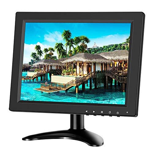 Eyoyo - Monitor de 10 pulgadas IPS LCD HD HDMI 4: 3 pantalla portátil con entrada BNC HDMI VGA AV 1024 x 768 para PC Raspberry Pi Gaming(10 pulgadas, 1024 x 768)