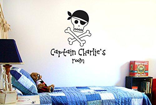 Vinilo decorativo de piratas para personalizar.