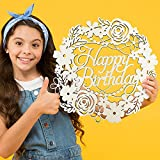 Happy Birthday Wood Sign Photo Booth Prop Wood Sign for Birthday Party Supplies Porch Sign Decorative Hanging Wood Sign for Wall
