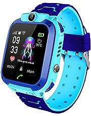 Smartwatch voor kinderen, smartwatch voor muziek, tweerichtingsgesprek, wekker, mp3-rekenmachine, verjaardagscadeauspeelgoed voor jongens en meisjes (blauw)