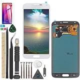 YWL-OU Reemplazo de Pantalla para Samsung Galaxy S5 I9600 SM-G900 G900M G900A G900T G900FD LCD Display LCD Assembly de Pantalla Táctil + Herramientas Práctica (Blanco)
