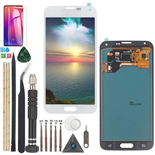YWL-OU für Samsung Galaxy S5 LCD Bildschirmersatz für Samsung S5 I9600 SM-G900 G900M G900A G900T G900FD Touchscreen Digitalisierer Display mit Werkzeugen (Weiß)