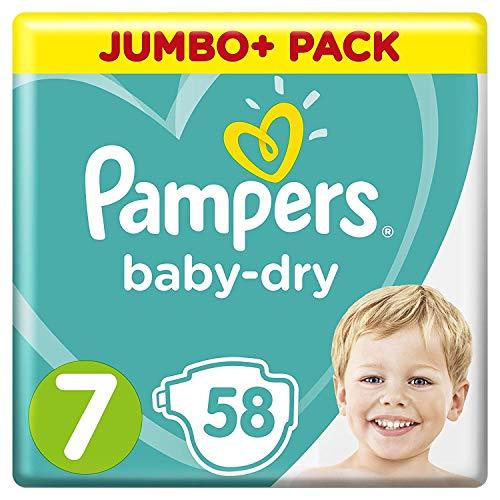 Pampers Baby-Dry-Windeln, Größe 7, 58Stück