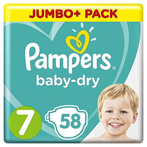 Lot de 58 couches Pampers «Baby-Dry» Taille 7