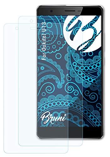 Bruni Schutzfolie kompatibel mit Oukitel U13 Folie, glasklare Bildschirmschutzfolie (2X)