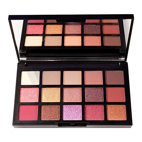 Nourich Palette 15 ombres à paupières, Ultra Shimmer 15 couleurs de fard à paupières Brillant et Dynamique, Professionel Maquillage Fumé Glitter Matte de Maquillage Palette Makeup Palette Set (01#)