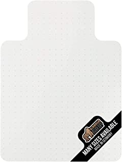 Gorilla Grip Premium Polycarbonate Easy Glide Studded Chair Mat for Carpeted Floor, 48x36, Non-Breakable Transparent Mats for Chairs, Good for Desks, Office and Home, Protects Floors, with Lip, Clear