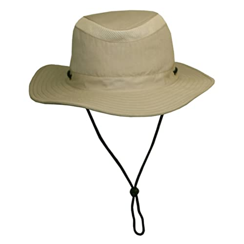 Unisex Safari Sun Bucket Hat with Hidden Cash Card Pocket - Lightweight -  100% 14ec1dd542b6