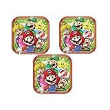Super Mario Square Dessert Plates 18cm (24 Pieces)