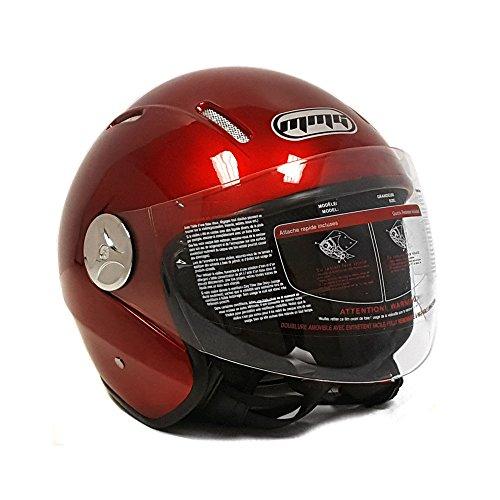 MMG 51 Motorcycle Scooter Open Face Helmet Pilot Flip Up Visor DOT. Large, Blue