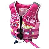 ABOOFAN Schwimmweste für Kinder, Größe S, Pink