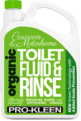 Pro-Kleen Organic Caravan Toilet Chemical Fluid Rinse Green Solution Cleaner 2L for Caravan and Motorhomes - Eco-Friendly, Formaldehyde Free - 2 Litres