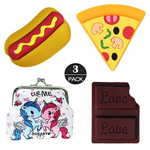 ZOEAST(TM) Cartoon Animal Fruits Protector USB Charger Saver Charging Data Earphone Line Protector Compatible with All iPhone iPad iPod and Most Android Phones (Hotdog Pizza Chocolate)