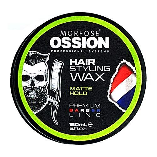 Ossion Premium Barber Line Matte Hold Hair Styling Wax Matt Haarwachs/Haargel/Mattes Finish/Starker Halt/Haarwax/Professional Hair-Wax für Matte-Look-Effekt