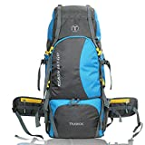 TRAWOC 60 Ltr Trekking Rucksack Travel Bag Hiking Backback, Skyblue (1 YEAR WARRANTY)