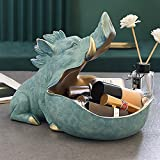 Figura de cerdo salvaje con boca grande, caja de almacenamiento de cerdo, decoración del hogar, decoración ornamental, decoración del hogar, regalo decorativo (color: azul claro)