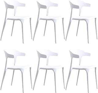 ZHONGXIN 6 Pcs Sillas de Comedor Modernas Sillas de Cocina Acolchadas con Respaldo Alto de plástico para restaurantes domésticos y comerciales (I)