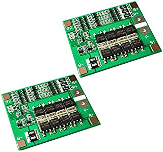 2Pcs 3S 12V 25A 18650 Li-ion Lithium Battery PCB Protection Board 11.1V 12.6V with Balanced Circuit Over Charge Discharge ...