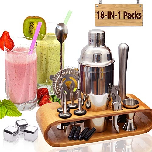 AYAOQIANG Shaker  Cocktail en INOX 750ML Professionnel...