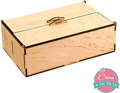 Zeller 13152 - Caja multiusos con tapa, plana, madera de conífera ...