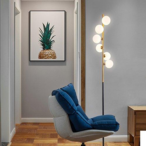 Staande lamp, woonkamerlamp, modern, etui, ijzer, kunstbal, staande lamp, tafellamp, G4 lichtbron LED