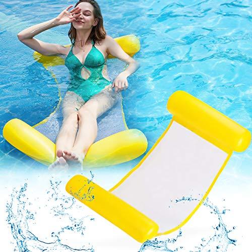 SANBLOGAN Cama hinchable 4 en 1, tumbona para piscina, lounge colchoneta de...