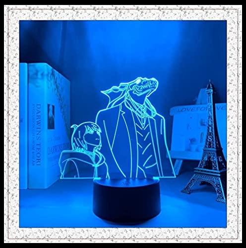 Lâmpada de ilusão LED 3D Luz noturna Usb Anime The Ancient Magus Bride Japanese Sign lâmpada de decoração de mesa para quarto de criança
