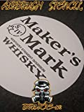 Whiskey Airbrush Stencil MAKERS MARK for barrel lid painting 12', 16', 22' you pick size reusable.