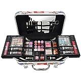 Gloss - caja de maquillaje, caja de regalo para mujeres - Caso Maquillaje - Moda de Londres - 62 piezas