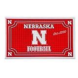 Team Sports America Collegiate University of Nebraska Embossed Outdoor-Safe Mat - 30' W x 18' H Durable Non Slip Floormat for Collegiate Fans