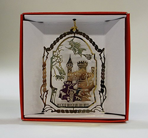 Wizard of Oz Christmas ORNAMENT Wicked Witch of the West Flying Monkey Evil Castle