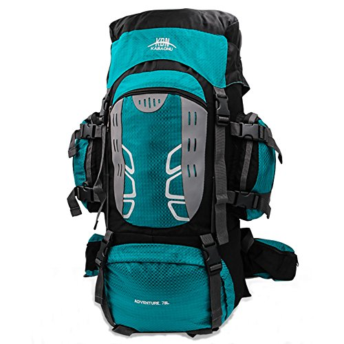 Mooedcoe 75L Large Hiking Backpack Outdoor Sports Water-Resistant...