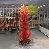 SHIJING Gran Hotel Soplado Escultura de Cristal Lámparas de pie de árbol de Naranja de Cristal de Murano Garden Park conífera Cristal