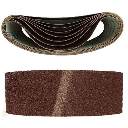 Bandas de lija para lijadora (10 unidades, 75 x 457 mm, grano 40