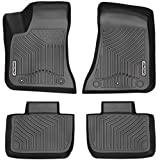 OEDRO Floor Mats Fit 2011-2020 Dodge Charger/Chrysler 300 RWD, Black TPE All Weather Front & 2nd Seat Custom Fit Liners