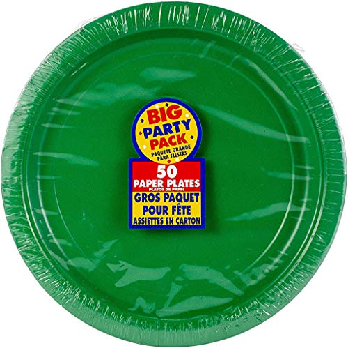"""Amscan 650013.03 Festive Green Paper Lunch Plates 