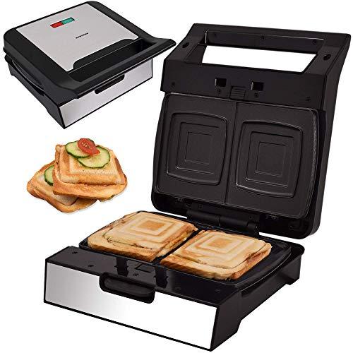 Syntrox Germany Sandwichmaker Square MM-1400W mit herausnehmbaren Backplatten