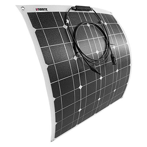Litionite Carve 50W Pannello Solare ultra sottile flessibile con tecnologia ETFE per installazione permanente - Ideale per creare un piccolo impianto solare Off Grid/Camper/Barca/Caravan/Tenda/Garage